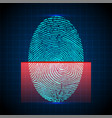 fingerprint scanner identification system vector image vector image