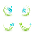 Four ecological icons vector image vector image