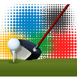 Golf club and golf ball vector image