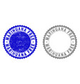 grunge marihuana free textured stamp seals vector image vector image