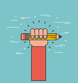 hand hold pencil flat vector image