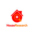 house research find logo design template vector image