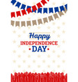 independence day in usa july 4th vector image vector image