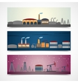 Industrial city banners set vector image vector image