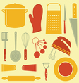 Kitchen composition vector image vector image
