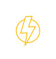 lightning bolt line icon vector image