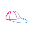 line cap fashion style object design vector image vector image