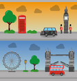 london england toruism travel landmark symbol vector image