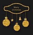 Merry Christmas Beautiful Card vector image