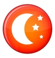 Moon and stars icon flat style vector image vector image