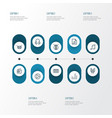 music outline icons set collection of melody vector image vector image