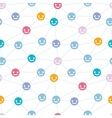 Network of happy faces seamless pattern background vector image