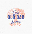 old oak abstract sign symbol or logo vector image