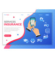 online insurance services concept vector image vector image
