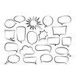outline speech bubbles-01 vector image vector image