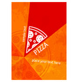 pizza background vector image vector image