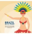 poster brazil rio de janeiro garota presenting vector image vector image