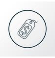 price tag icon line symbol premium quality vector image vector image