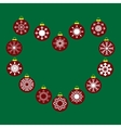 Red Christmas balls with snowflakes seamless vector image vector image