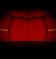 red curtain opera cinema or theater stage drapes vector image