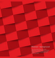 red geometric background texture with shadow vector image vector image