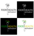 restaurant healthy food icon and label design vector image