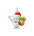 santa bottle with pipette with sacks gifts vector image vector image