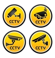 Security camera CCTV signs vector image