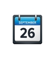 September 26 Calendar icon vector image vector image