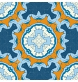 Set of blue and brown mandalas seamless