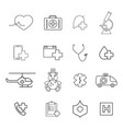 set of medical help icons vector image vector image