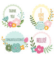 set of natural herbal frames vector image