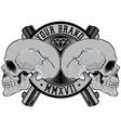 skull head logo vector image vector image