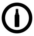 spray icon black color in circle vector image vector image