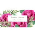 spring roses watercolor card beautiful floral vector image vector image