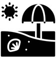 summer beach icon summer vacation related vector image vector image