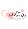 valentines day party background with pink hearts vector image vector image