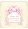 vintage floral carriage invitation vector image vector image