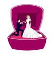 wedding concept with bride and bridegroom in vector image vector image