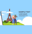 women taking selfie photo on cellphone camera mix vector image vector image
