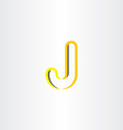 yellow logo letter j symbol design vector image vector image