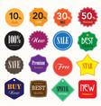 Set of business vintage badges and labels vector image