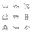 9 passenger icons vector image vector image