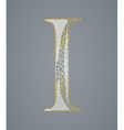 Abstract golden letter I vector image