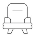 armchair thin line icon furniture and home chair vector image vector image