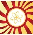 Atom abstract icon vector image vector image