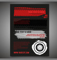automotive tire leaflet vector image vector image