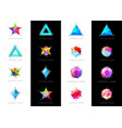 big set geometric shapes unusual and abstract vector image