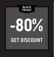 black friday sale limited offer get discount web vector image vector image