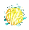 Bright Yellow Bubble Design with Active Summer vector image